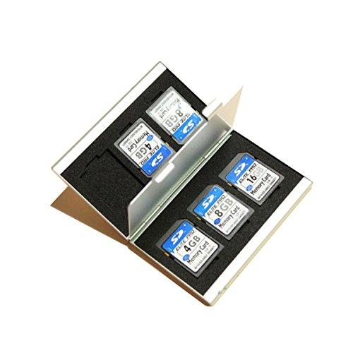 MASUNN 6 Slots Aluminium Opbergdoos SD/SDHC Memory Card Case Houder Beschermer