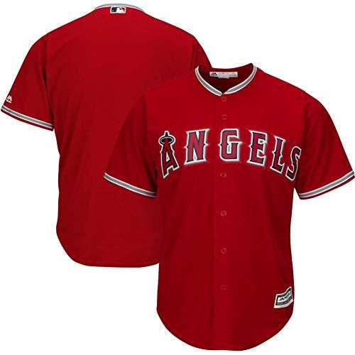 Herren Baseball Trikot Herren T-Shirts-Unisex Trainings Trikot Herren Weiß Sportswear Mesh Schnelltrocknend Langarm Fans Sweatshirt oder als Geschenk-red-XXXL