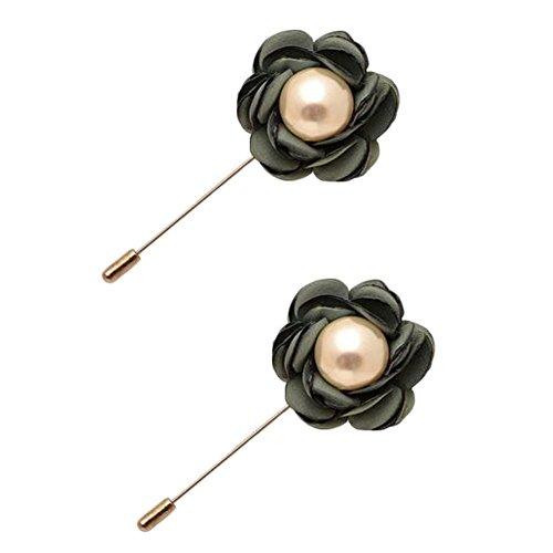 Broches épingle élégante Broches 2PCS broches de colliers de décoration pour dames, Vert