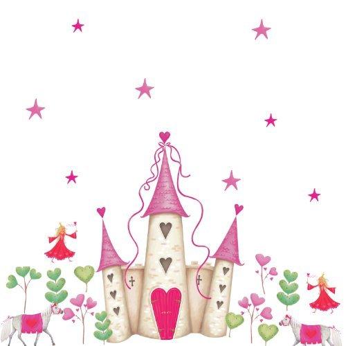 Ferramenta RoomMates YH1328M Princess Castle Peel & Stick Giant Wall Decal Couleur: Black Size: Unit, Quincaillerie