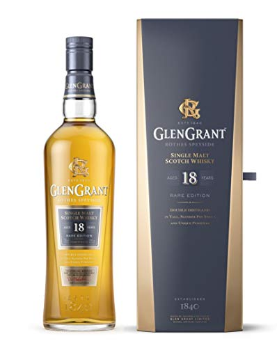Glen Grant 18 Years Old RARE EDITION Single malt Scotch Whisky + 2 Glasses (1 x 0.7 l)