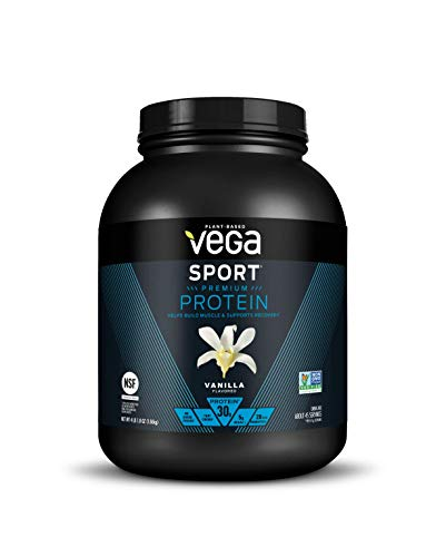 Vega Sport Premium Protein Powder, Vanilla, Plant Based Protein Powder Post Workout - Certified Vegan, Vegetarian, Keto-Friendly, Gluten Free, Dairy Free, BCAA Amino Acid (45 Servings / 4lbs 1.8oz)