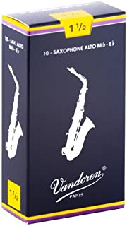 Vandoren SR2115 Alto Sax Traditional Reeds Strength 1.5; Box of 10