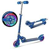 OUTCAMER Kinder Roller Faltbarer Tretroller für Kinder ab 3-10 Jahre, Kinder Scooter mit Verstellbarer Lenkstange und LED Räder ausgestattet 2,3 KG Kind Kick Scooter Max. Belastbarkeit...
