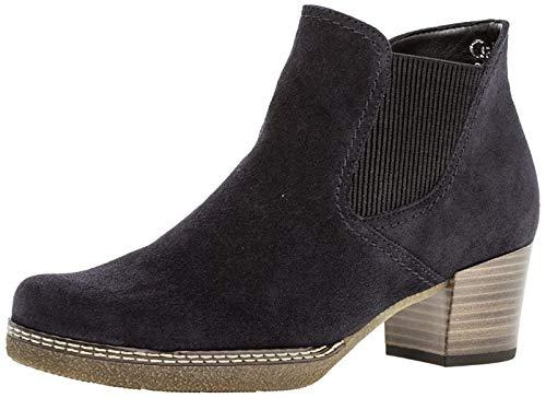 Gabor Damen Chelsea Boots 96.661,Frauen Stiefel,Halbstiefel,Stiefelette,Bootie,Schlupfstiefel,hoch,Blockabsatz 3.5cm,Einlegesohle,G Weite (Normal),nightbl(Sn/AMA/Mic,UK 7.5