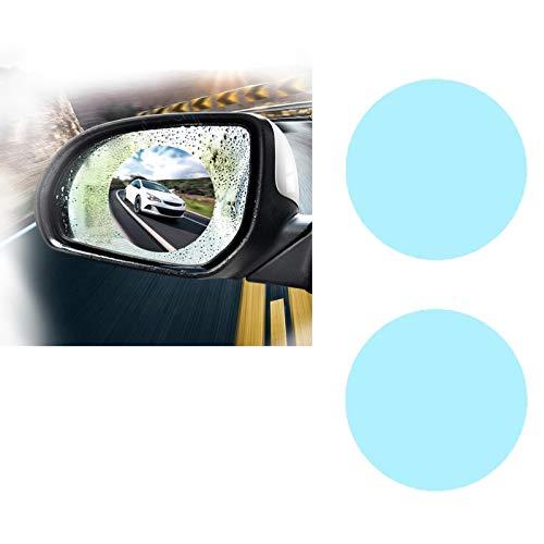 ZAYALI Hydrophobic Mirror Film,Car Rearview Mirror Film, Rainproof Anti-Fog Hydrophobic Protective Sticker (100MM Round)
