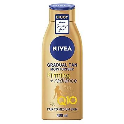 Nivea Q10 Firming + Radiance Gradual Tan (400 ml), Tan Activating Firming Cream with Q10, Supports a Gradual Tan, Tanning Moisturiser for a Sun-Kissed Radiant Glow from Beiersdorf