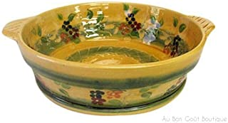 Souleo, Terre è Provence, Large 12 Inch Round French Provence 'Tian' - Casserole/Baker/Serving Bowl, 12 Inch Diameter, Imp...