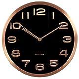 Karlsson Maxie Cooper - Reloj de Pared (Cobre, 30 cm), Color Negro