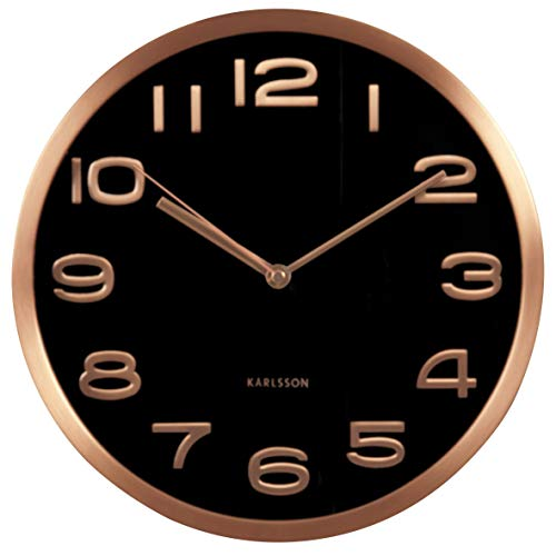 Karlsson Horloge Murale Maxie Cooper Cuivre Noir 30 cm