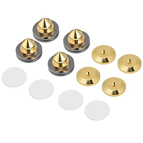 VBESTLIFE Lautsprecher Isolation Spikes Ständer Füße HiFi Lautsprecher AMP CD Kegel Basis Pads 28x25mm,4 Stücke