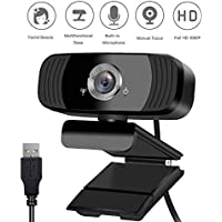Patiko Streaming 1080P HD Webcam with Noise Reduction Microphone