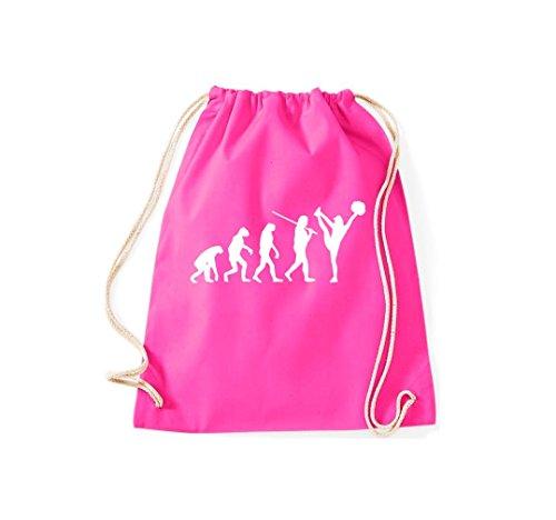 Unbekannt Turnbeutel Evolution Cheerleader Cheerleading Kostüm Fun Sport Tanz Gymsack Kultsack pink
