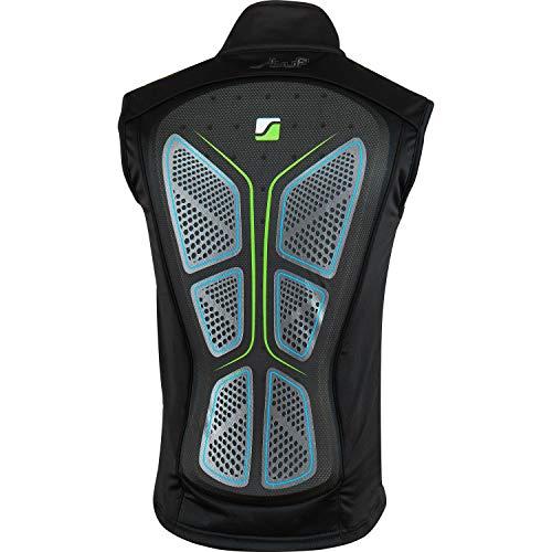 Stuf WESTE UNISEX Softprotektor schwarz-blau-grün - XL