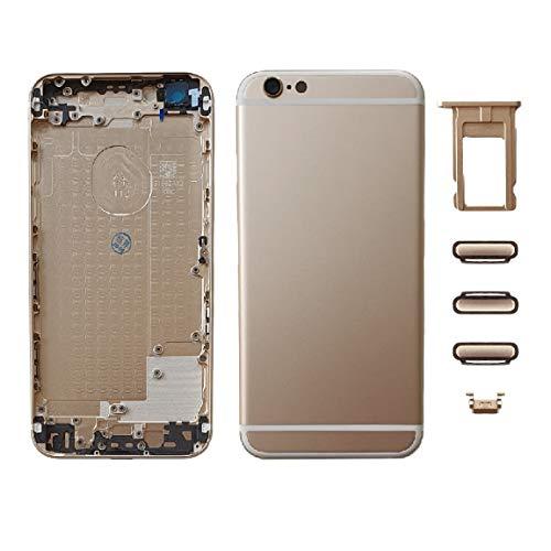 Smartex Scocca Posteriore in Vetro + Telaio Compatibile con iPhone 6 | Back Cover + Frame (Oro)