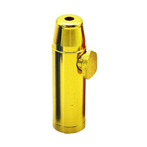 Dispenser dosatore per tabacco da fiuto, in metallo colorato - gold
