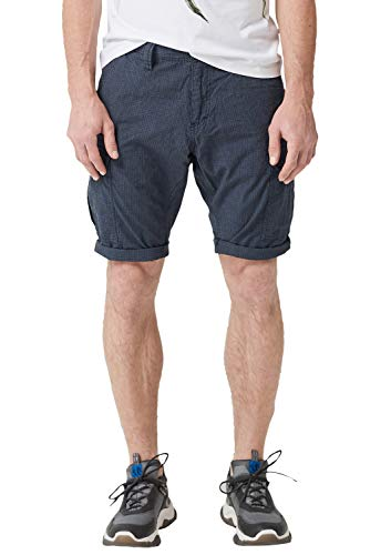 s.Oliver RED LABEL Herren File Loose: Cargo-Bermuda dark blue check 34