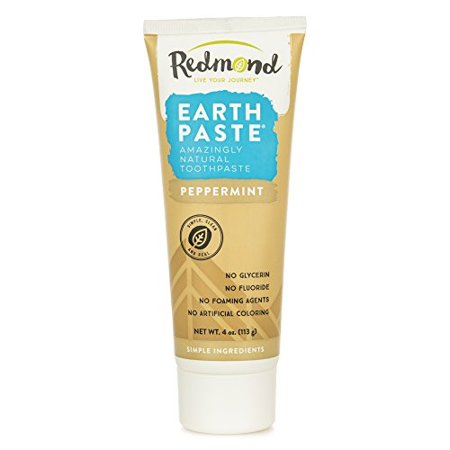 Redmond Earthpaste - Natural Non-Flouride Toothpaste, Peppermint, 4 Ounce Tube (1 Pack)