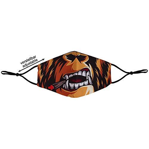 Shirt-Panda Stoffmaske · Mundschutz mit Filter · Alltagsmaske mit verstellbaren Ohrschlaufen · Mundschutzmaske aus Stoff · Viele Farben und Motive · Gorilla
