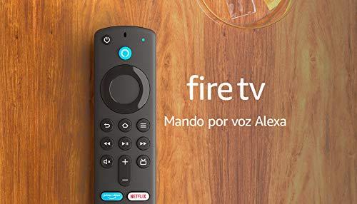 Nuevo mando por voz Alexa (3.ª generación) para el Fire TV, con controles del TV,...