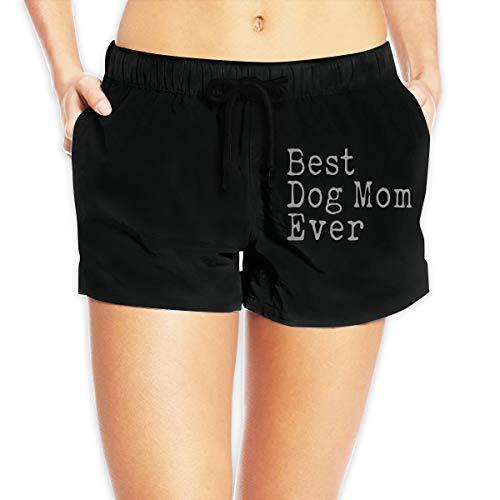 JG75BDS Best Dog Mom Ever Women's Boardshorts Lightweight Beachwear White