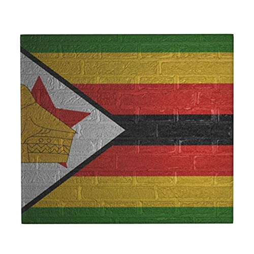 Abtropfmatte mit Flagge von Simbabwe, für die Küche, rutschfest, super saugfähig, für Geschirr, Geschirr, Geschirr, Tellerhalter, Trockenpad, 46 x 41 cm