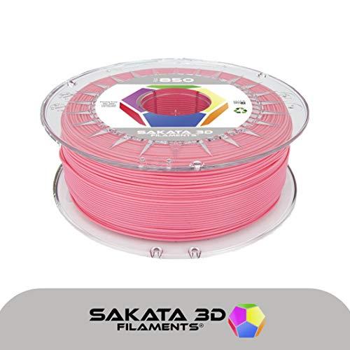 SAKATA 3D - 1Kg de Filamento PLA3D850 1.75MM, Ingeo Biopolymer 3D850 para impresoras y pluma 3D. Fabricado en España (Rosa)