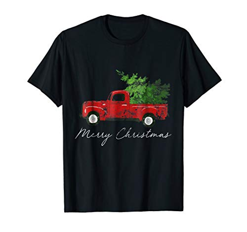 Vintage Wagon Christmas T-Shirt - Tree on Car Xmas Vacation