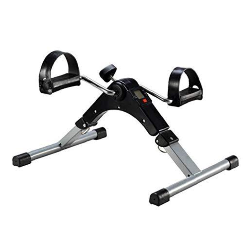 Pedal Plegable Mini Bicicleta Estática Plegable Ejercitador Trainer Cubierta con Pantalla Digital