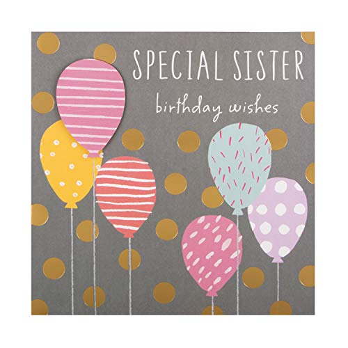 Birthday Card for Sister from Hallmark - Contemporary Balloon Design