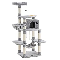 "SONGMICS 69"" Multi Level Cat Tree With Feeder Bowl"