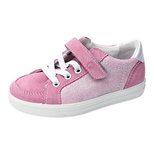 RICOSTA Kinder Low-Top Sneaker Marielle, Weite: normal, Klettschuh Klett-Verschluss Kinder Kids Maedchen Kinderschuhe toben,Purple,27 EU / 9 Child UK