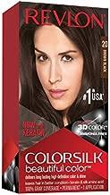 Revlon Colorsilk Beautiful Color, Permanent Hair Dye with Keratin, 100% Gray Coverage, Ammonia Free, 20 Brown/Black