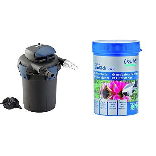 Oase 50499 BioPress Set 4000 & Starterbakterien für Teichfilter AquaActiv BioKick, 200 ml