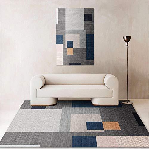 Kunsen Teppich Für Flur Kreativer geometrischer Grauer Abstrakter moderner Teppich küchenteppiche Waschbare und Pflegeleichte dekorative Teppiche Wohnzimmergroßer Teppich Schlafzimmer rutsc40x60CM