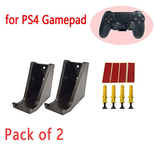 Wall Stand Holder Mount Dock Game Wireless Controller Gamepad Handle Storage Bracket Kits for Playstation PS4 Pack of 2