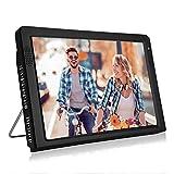 Garsent Televisor Portátil de 12.1 Pulgadas, Pantalla LED Pequeña Para TV con TV Portátil USB PVR 1080P HD con Baterías Recargables 1500 M