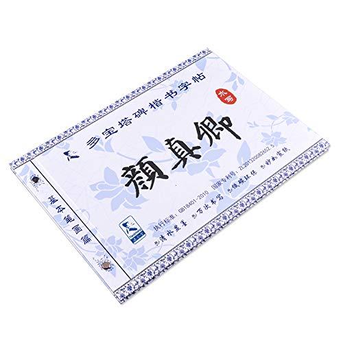 Tianjintang - Libro de escritura de caligrafía china, respetuoso con el medio ambiente, no necesita tinta, para principiantes, Yan Zhenqing