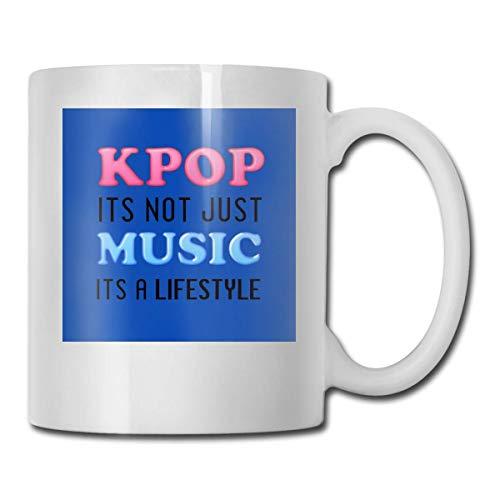 haoqianyanbaihuodian Kpop Is A Lifestyle - Vaso de cerámica azul (330 ml)