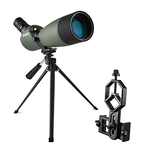 GTUKO 25-75X70 Visores Telescópicos para Observación De Aves Impermeable De Zoom Catalejo con Trípode Y Adaptador Universal para Smartphone Ideal para Observación