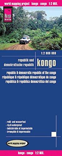 Reise Know-How Landkarte Kongo (1:2.000.000) : Republik und Demokratische Republik Kongo: world mapping project: reiß- und wasserfest. Höhenlinien mit ... ausführlicher Ortsindex. Gedruckt auf Polyart