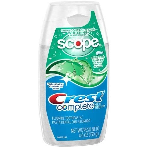 Crest Complete Whitening Plus Scope Minty Fresh Liquid Gel Toothpaste, 4.6 Ounce - 24 per case.