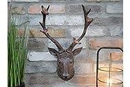 Best Value Here Wall Mounted Elk Head Hanging Art Ornament Resin Stag Sculpture Home Garden Décor Ne...