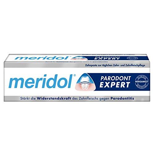 Meridol Zahnpasta Parodont Expert, 1 x 75 ml - Zahncreme wirkt antibakteriell und unterstützt so den natürlichen Heilungsprozess des Zahnfleischs