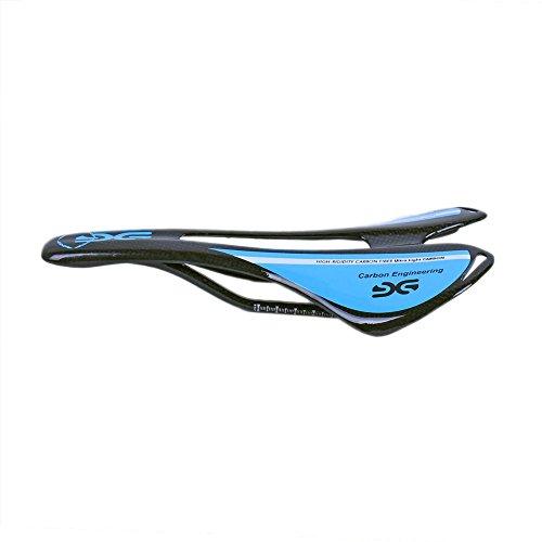 ESEN SP Bicicleta Superlight Full Carbon Fiber MTB/Bicicleta de Carretera Sillín Hueco 3k Mate/Brillante (Brillante, Azul)