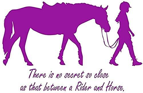 Muurstickers 89 x 58 cm Non Gies Gies Es sind geheimen So Vicini citaten voor meisjes en paarden afneembaar transfersticker sjabloon wanddecoratie