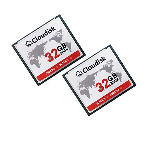 Cloudisk Compact Flash Memory Card CF Card High Speed Reader Camera Card for DSLR (32GB2PK)