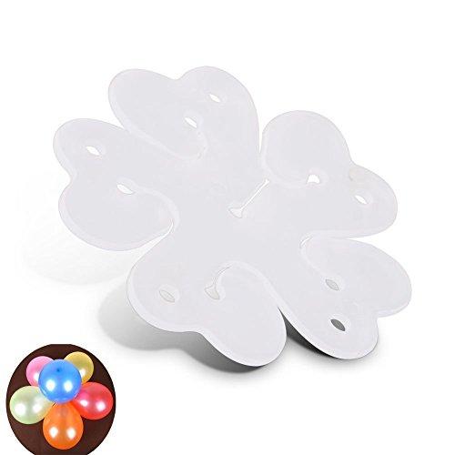 mciskin 60 STÜCKE Tragbare Blume Form Ballon Clips Halter für Hochzeit Event Dekorationen Birthday Party Supplies