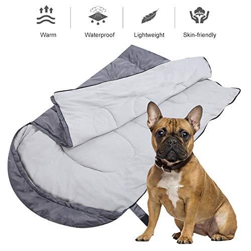 LetCart Dog slaapzak, waterdicht, slijtvast hondenslaapzak, comfortabel huisdier bedmat, lichtgewicht, warm en wasbaar, voor wandelingen en buitenactiviteiten
