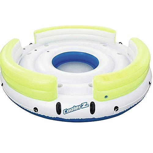 ZBNMGHFT Runde Insel Erwachsene Aufblasbare Schwimmende Drainage Auf Dem Party Strand Lounge-Stuhl Verdicktes PVC-Material Geeignet Für Mehreren Wasserpartys 350cm